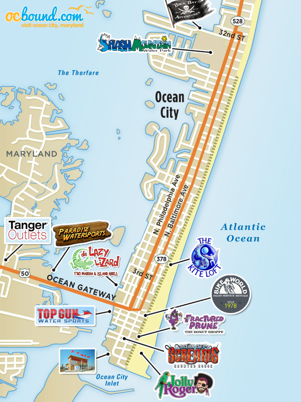 Maps Of Ocean City MD Ocean City MD OCboundcom - Ocean city md map