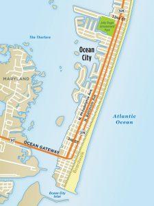 Ocean City, Maryland Map