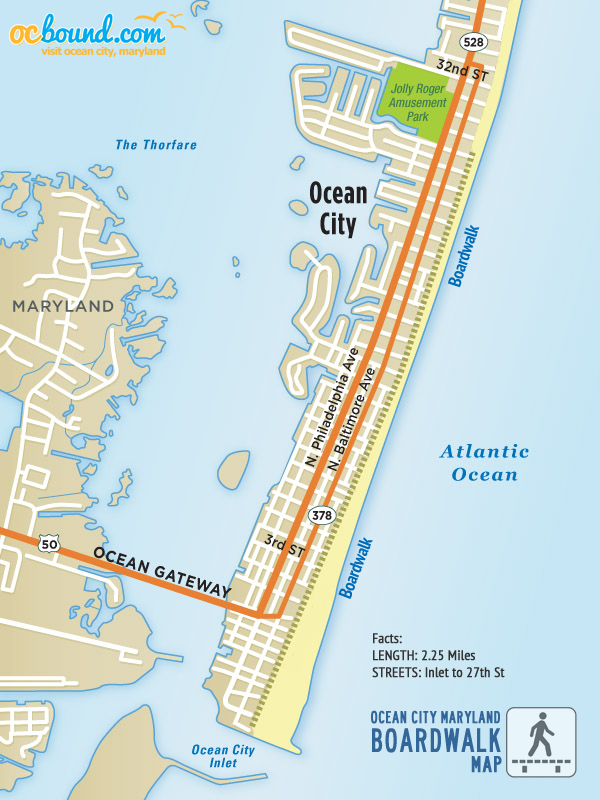 Ocean City MD Boardwalk Map