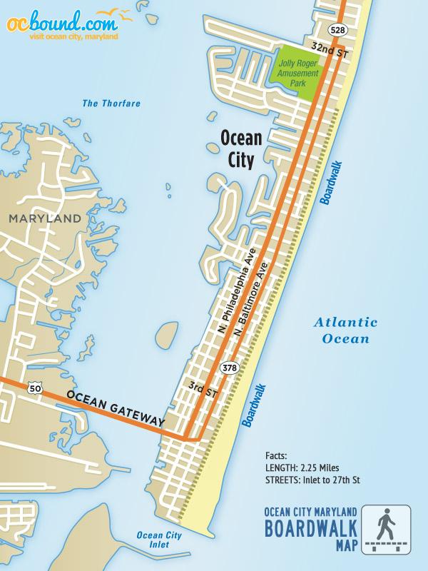 Ocean City Map Maps of Ocean City, MD   Ocean City, MD | OCbound.com