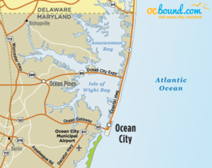 Ocean City Map and Driving Directions