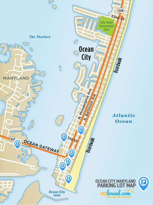 Ocean City MD Parking Lot Map