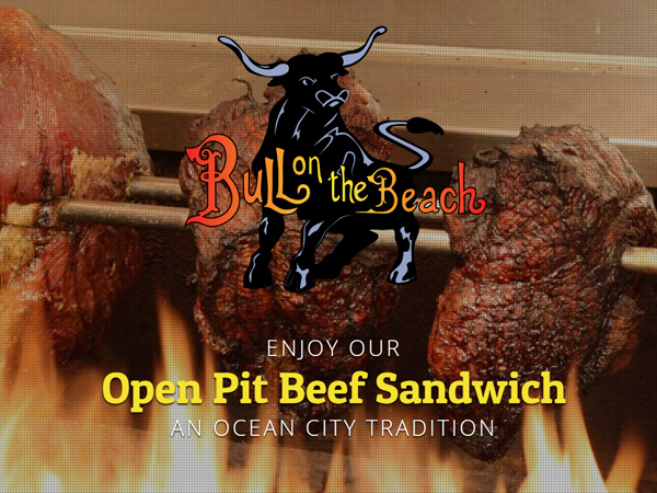 Bull on Beach Ocean City, MD