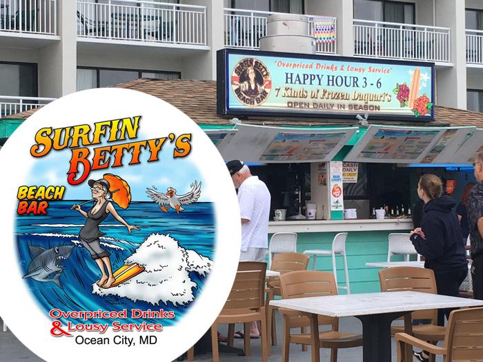 Surfin Betty's Beach Bar & Ocean View Grill Ocean City MD