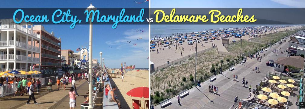 ocean city vs delaware beaches ocean city md ocbound com